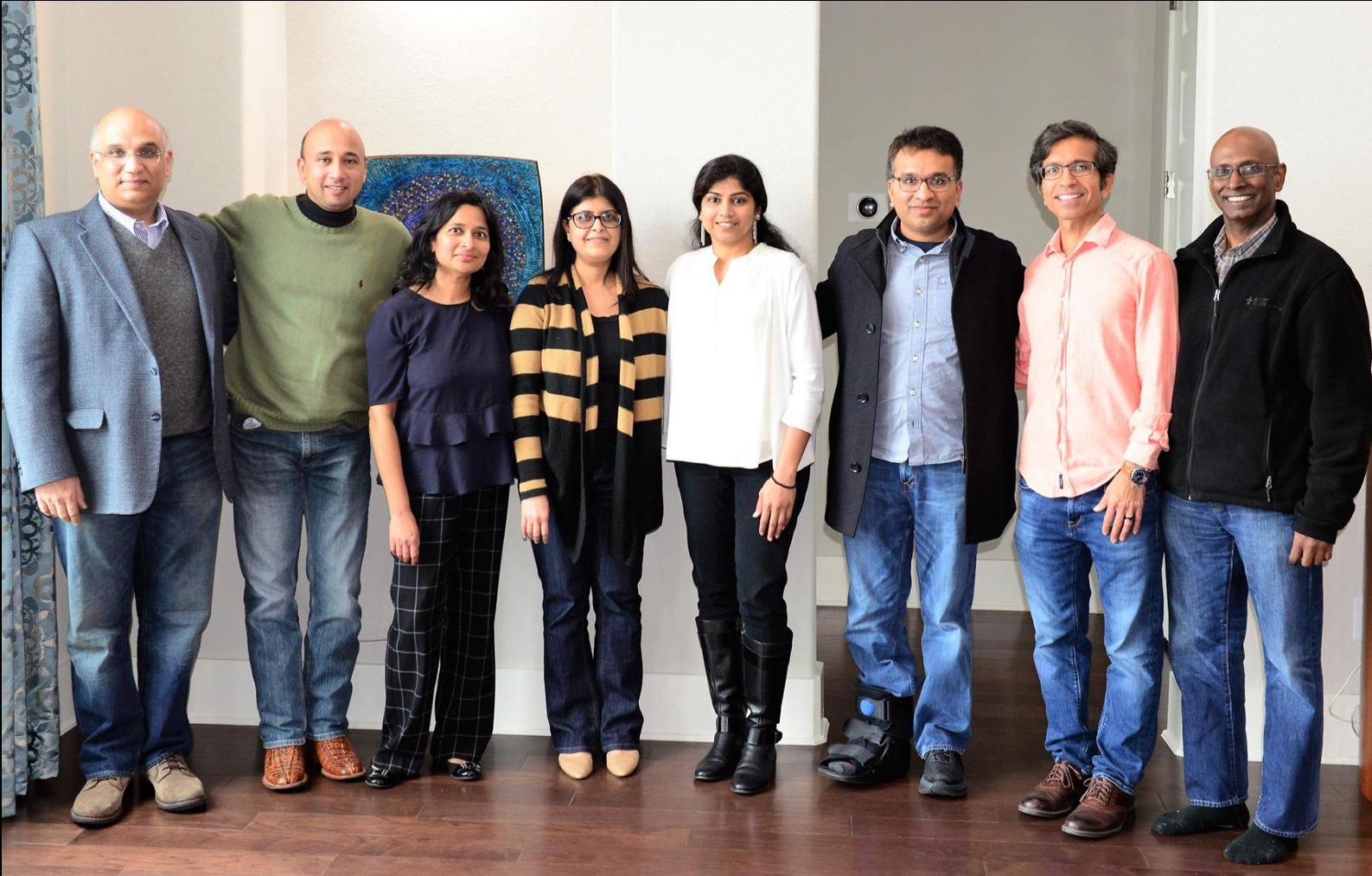 (Left to right): Rajeev Suri, Desh Sharma, Subhashini (Subha) Valvalkar, Chandana Tripathy, Nivedita Parachur, Umang Shah, Dharam Kaushik, Sridhar Beeram